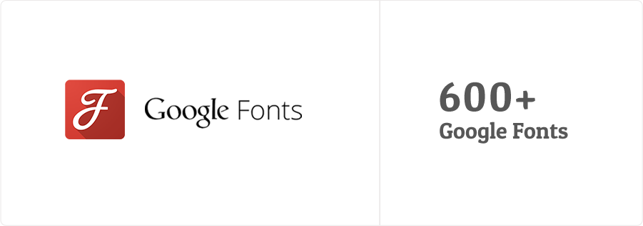 More than 600 google fonts